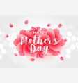 happy mothers day rose background vector image