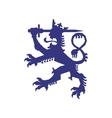 Heraldic lion icon Insignia design vector image