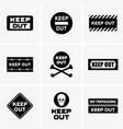 keep out signs vector image vector image