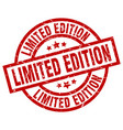 limited edition round red grunge stamp vector image vector image