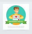 manager or agent with a document protection vector image