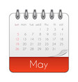 may 2019 calendar leaf template vector image