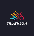 minilmalist triathlon endurance multisport logo vector image