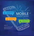 mobile phone concept design with incoming vector image