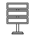 multi billboard icon outline style vector image