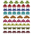 multicolored space invaders vector image