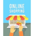 Online Shopping by Laptop vector image vector image