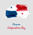 panama independence day background vector image vector image