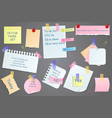 paper notes on stickers vector image
