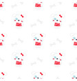 pattern dog in scandinavian vector image vector image