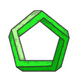 penrose impossible pentagon sketch vector image