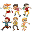 People in different actions vector image vector image