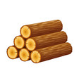 pile logs stack trunks cutted trees vector image