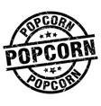 popcorn round grunge black stamp vector image vector image
