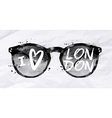 Poster sunglasses London vector image vector image