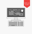 Programming coding icon Flat design gray color vector image vector image