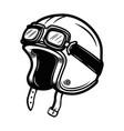 racer helmet design element for poster emblem vector image