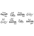 set hand sketched happy easter sale text as vector image