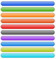 set of banner button plaque backgrounds 10 colors vector image vector image