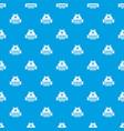 sleeping dream pattern seamless blue vector image vector image