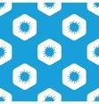 Starburst hexagon pattern vector image vector image