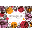 thanksgiving day background menu template with vector image vector image