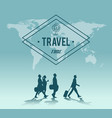 travel time world map backgroud vector image