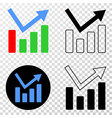trend chart eps icon with contour version vector image vector image