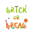 Trick or treat decorative halloween text vector image vector image