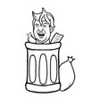 trump in trash vector image vector image