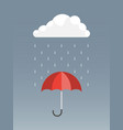 umbrella icon rain protection umbrella vector image vector image