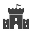 watchtower black icon ancient historic fortress vector image vector image