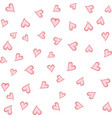 watercolor hearts seamless background pink vector image