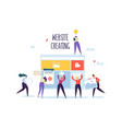 website development concept flat people characters vector image