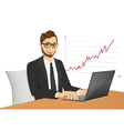 young hipster businessman with laptop vector image vector image