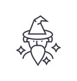 wizard sorcerer line icon sign vector image