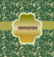 green floral pattern vintage floral background vector image