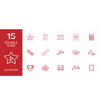 15 system icons vector image vector image