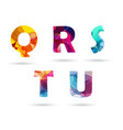 abstract colorful capital letters set vector image vector image