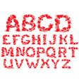 Alphabet - blots letters vector image vector image