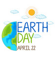an icon earth day vector image