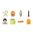 ancient egypt icons in set collection for design vector image