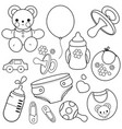 baaccessories coloring page vector image
