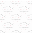 Baby seamless pattern Light fun sky print vector image vector image