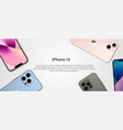 banner for iphone 13 vector image