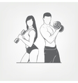 beautiful fitness young sporty couple vector image vector image