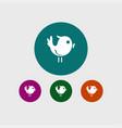 bird icon simple vector image vector image