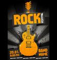 black orange rock festival party flyer vector image