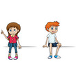 boy and girl with happy smile vector image vector image
