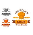 Brown and yellow bakery emblem vector image vector image